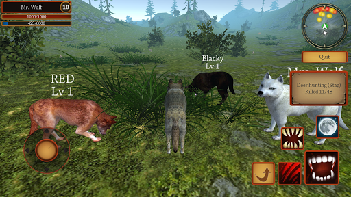 Wolf Simulator Evolution  captures d'u00e9cran 1
