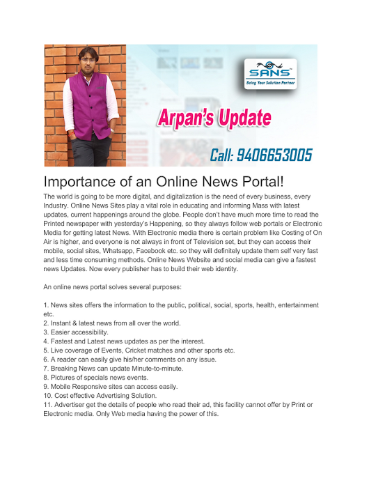 Importance of an Online News Portal!