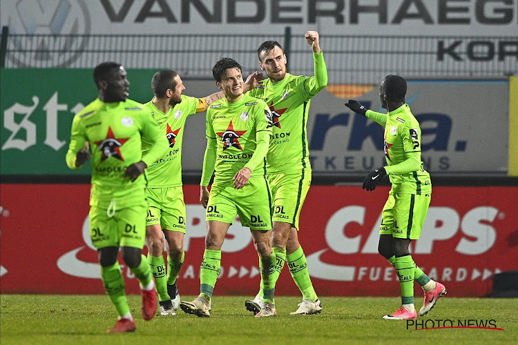 Zulte Waregem s'adjuge le derby à Courtrai et reste en course pour le top 4