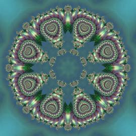 Mandala by Cassy 67 - Illustration Abstract & Patterns ( kaleidoscope, pattern, abstract art, digital art, fractal, digital, fractals, mandala )