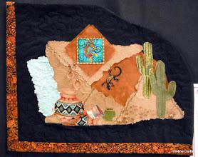 "Photo: #80-A, Carol Meier, ""Southwest Mixed Media Art Quilt"""