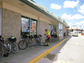 Photo: Lunch Control at Laramie. Many rider stopped McDonald's. Ken got four yogurts! We are getting Snowy Range Rd toward Saratoga. We should pass Snowy Range today what it is highest point on CHC1200!.