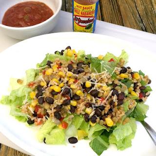 High Protein, High Fiber Southwest Salad.