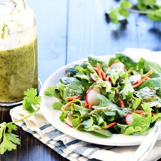 Cilantro Lime Vinaigrette {Zesty Mexican Salad Dressing} Recipe