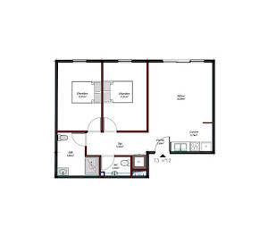 Appartement 3 pièces 62,81 m2
