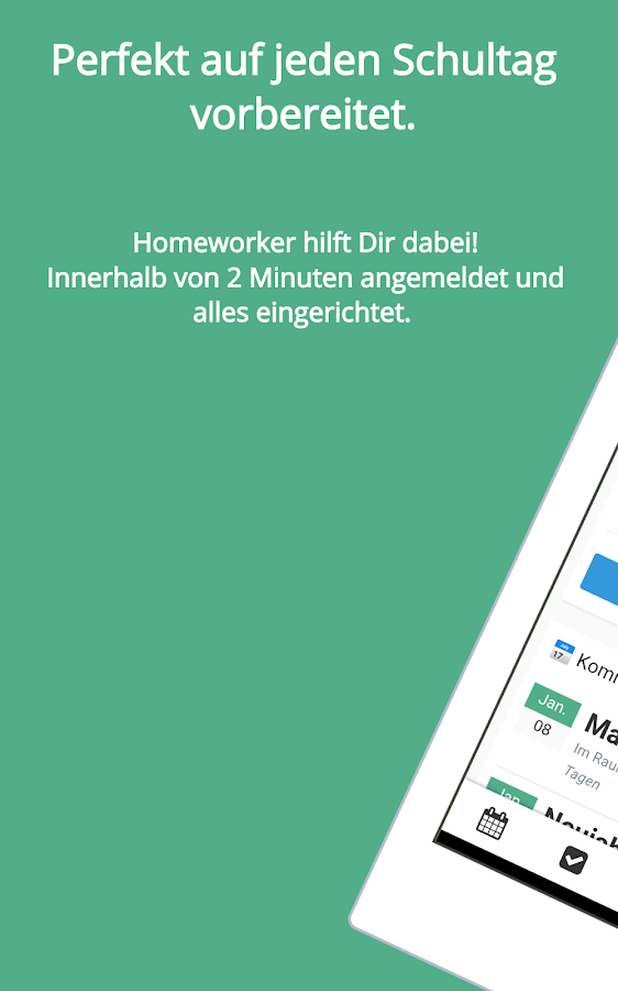 Schulplaner - Homeworker- screenshot