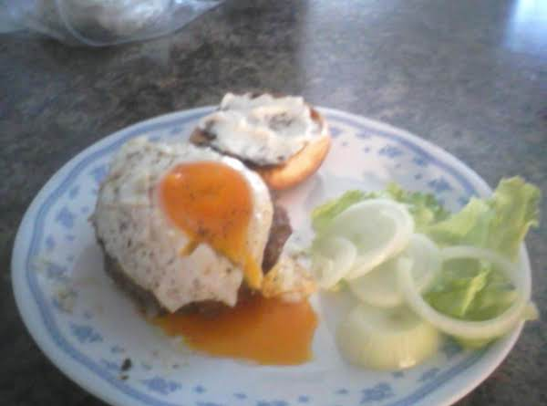 Rocky Sunrise Bacon And Egg Burger