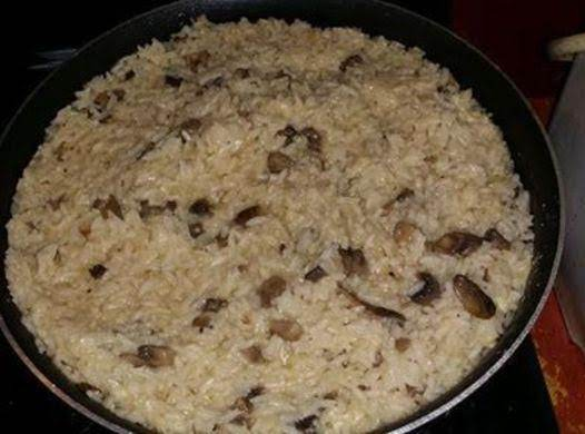 Creamy Mushroom And Rice Risotto
