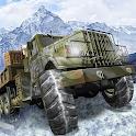 Dirt Road Army Cargo Truck - Snow Trucker Champion icon