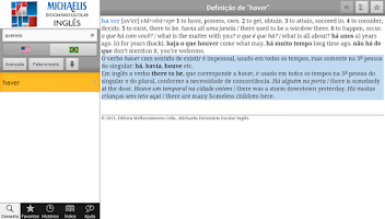 Screenshot of Michaelis Escolar Inglês
