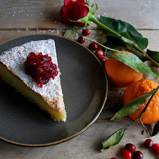 Basque Cake with Cranberry Compote Recipe