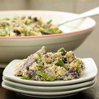 Asparagus and Quinoa Purple Potato Salad (Gluten-Free, Vegan/Plant-Based)