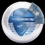 Snowy white sky GO Keyboard