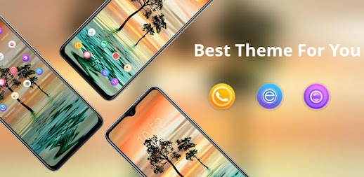 Best Beauty View theme of Tree Sunest Water Ripple APK