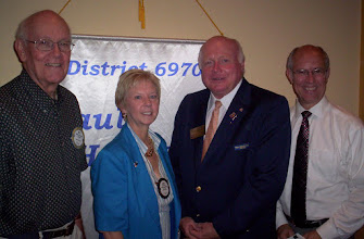 Photo: Bill Ottinger, Ruth, District Governor Bill Griffin, Mark - September 9, 2008
