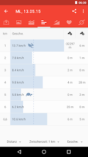 Runtastic Road Bike Rennrad – Miniaturansicht des Screenshots