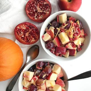 Healthy Fall Fruit Salad with Creamy Dressing (Vegan)