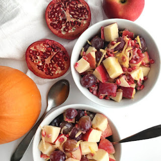 Healthy Fall Fruit Salad with Creamy Dressing (Vegan).