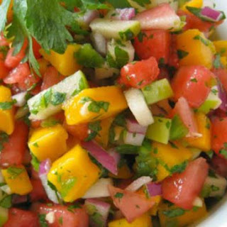 Watermelon and Mango Salsa