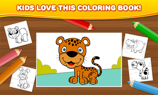 Animals: Kids Coloring Book