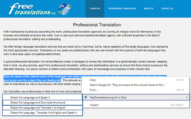 Translator and Text to Speech (TTS)