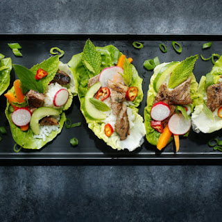 Korean Grilled Beef Lettuce Wraps