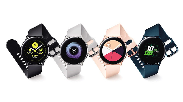 The Samsung Galaxy Watch Fit.