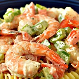 Simple Shrimp Pasta Salad.