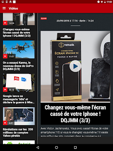 01net.com : actus, tests et vidéos high-tech- screenshot thumbnail