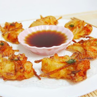 Prawn & Vegetable Fritters.