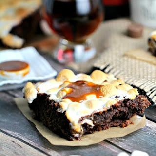 Cognac Brownies with Homemade Caramel Sauce