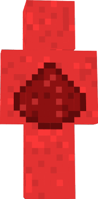 a redstone dust by a human