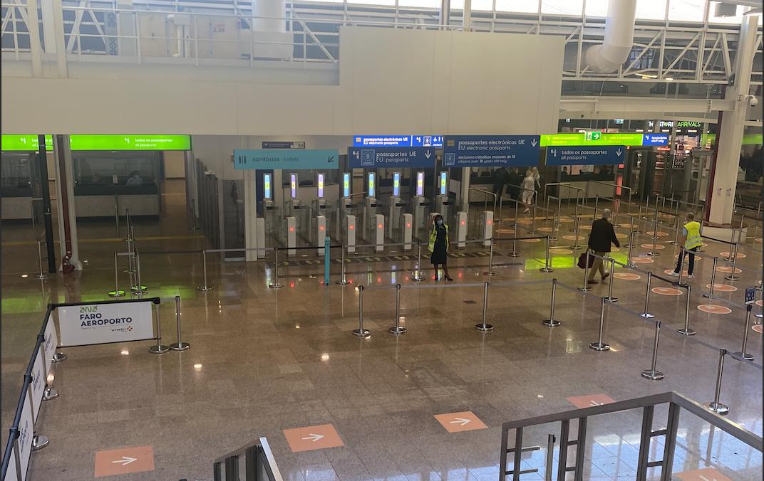 Arriving at Faro Airport