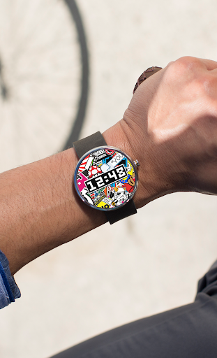 Sticker Bombing Watch Face