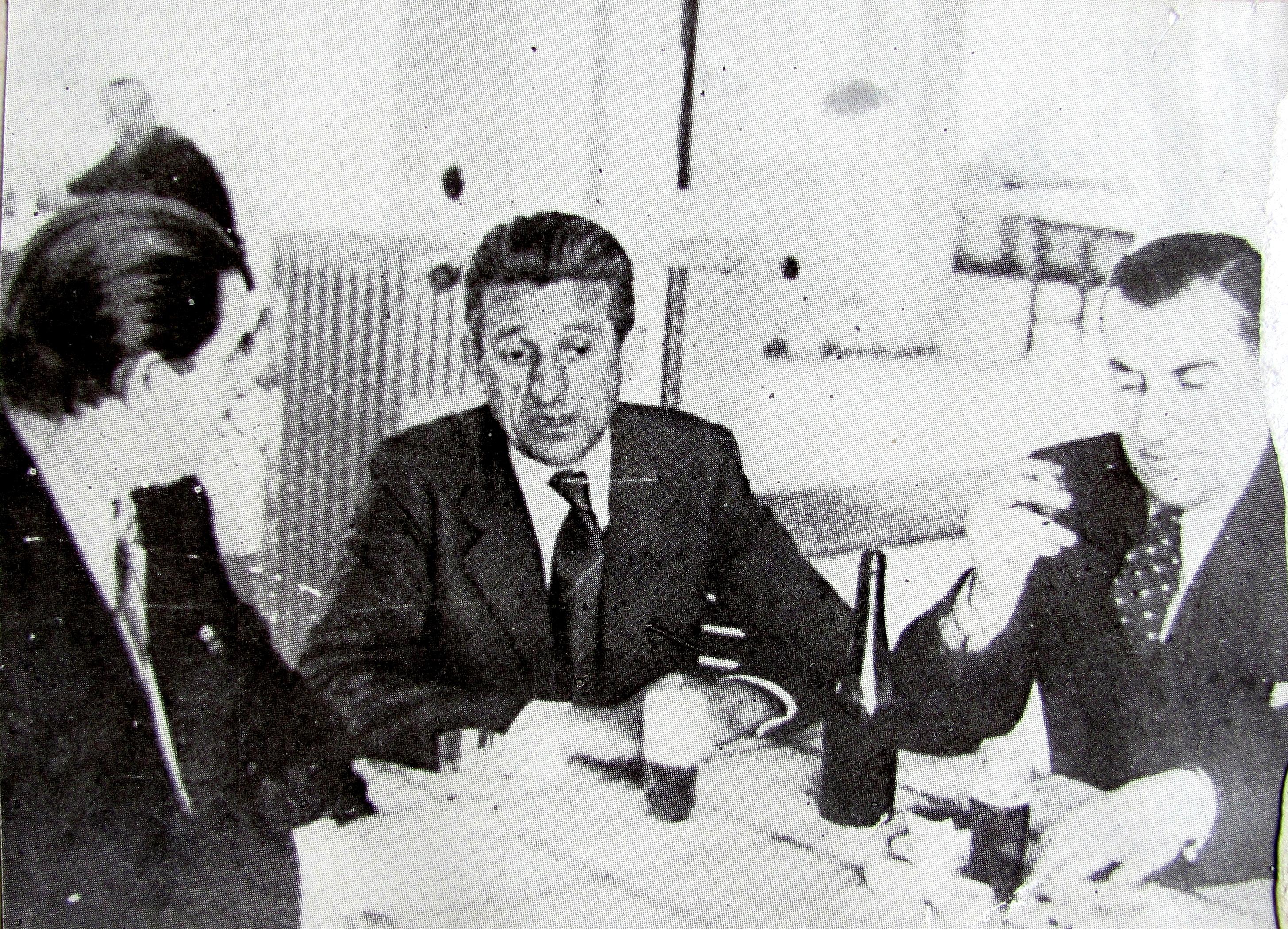 Photo: Раде Драинац први с десне стране