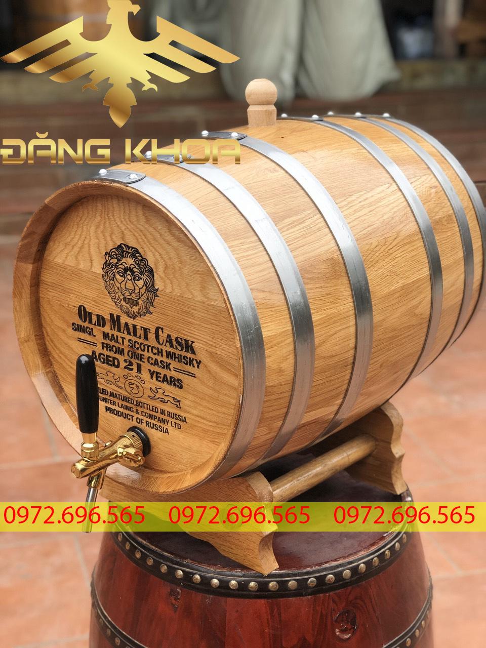 Bình đựng rượu gỗ sồi cao cấp