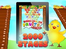 Screenshot of Bubble Shooter Fruits Legend