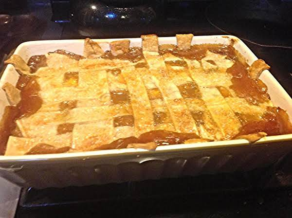 This Is The Special Peach Cobbler That I Created For My Own Birthday, I Added Pulverized Fresh Orange To It To Give It A Special Kick Of Extra Orange Flavor.
