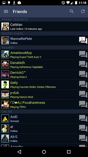 Steam Android App Screenshot