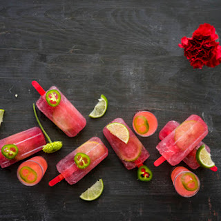 Watermelon-Tequila Margarita Popsicles