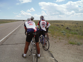 Photo: Day 20 Riverton WY to Casper WY 120 miles 2500' of climbing: We now stop every 30 min for a sip of water and a few minutes off the saddle.