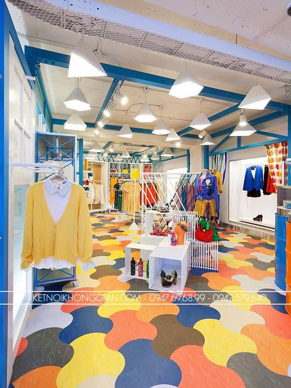 thiết kế shop thời trang đầy màu sắc 2