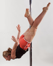 Photo: Vertical Pole Gymnastics - No Handed Parallel to the Floor