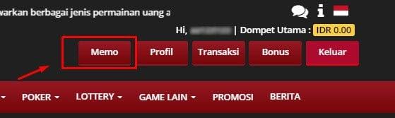 klik menu memo