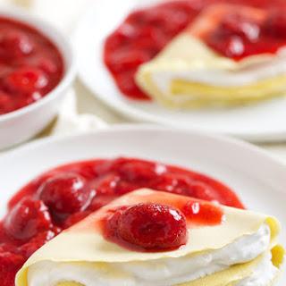 Strawberries and Cream Crêpes.
