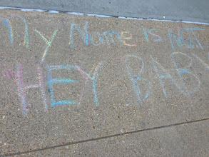 Photo: 4.11.13 UMBC chalking in Maryland
