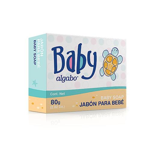 jabon algabo baby pastilla con estuche 80gr