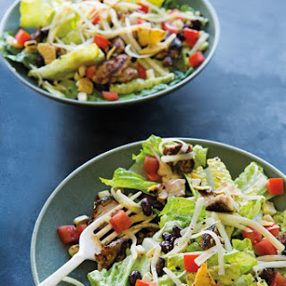 Grilled Chicken Taco Salad with Avocado Dressing.
