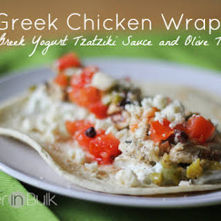 Refreshing Greek Chicken Wraps.