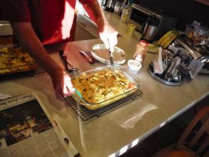 Photo: Day 21 Casper to Douglas WY. Breakfast prepared by Jim.